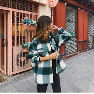 Zara plaid overshirt shirt jacket